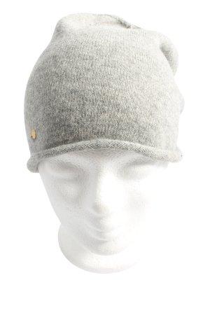 Gina Tricot Sombrero de punto gris claro look casual