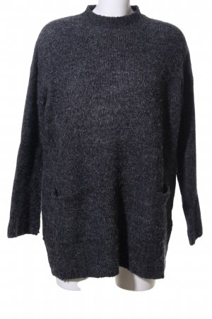 Gina Tricot Strickpullover hellgrau meliert Casual-Look