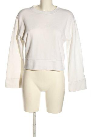 Gina Tricot Sweatshirt wollweiß Zopfmuster Casual-Look