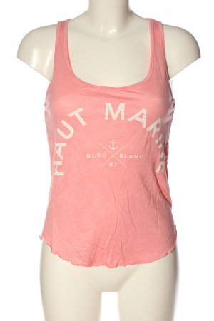 Gina Tricot Tanktop pink Schriftzug gedruckt Casual-Look