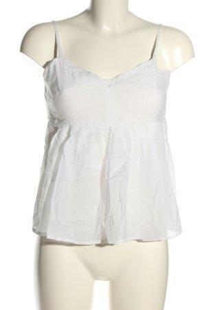 Gina Tricot Top na ramiączkach biały W stylu casual