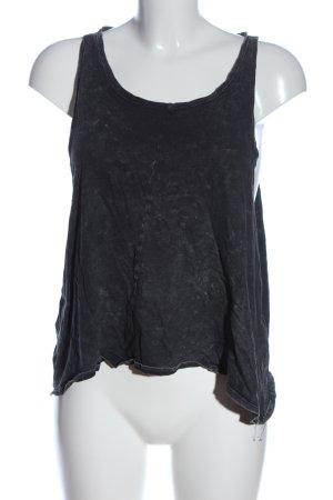Gina Tricot Trägertop schwarz-weiß abstraktes Muster Casual-Look