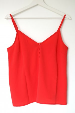 Gina Tricot Strappy Top red-neon red polyester