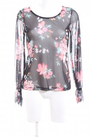 Gina Tricot Transparenz-Bluse Blumenmuster Elegant