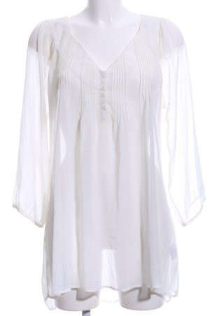 Gina Tricot Transparenz-Bluse weiß Casual-Look