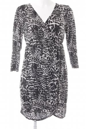 Gina Tricot Tunikakleid schwarz-hellrosa abstraktes Muster schlichter Stil