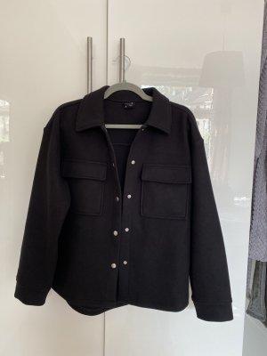 Gina Tricot Between-Seasons Jacket black-silver-colored