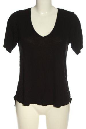 Gina Tricot V-Ausschnitt-Shirt braun Casual-Look