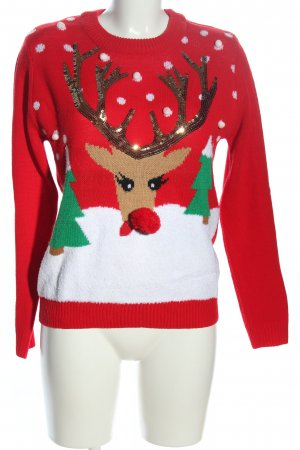 Gina Tricot Christmasjumper themed print casual look