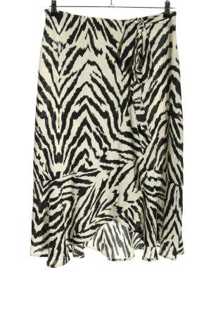 Gina Tricot Wraparound Skirt white-black allover print casual look