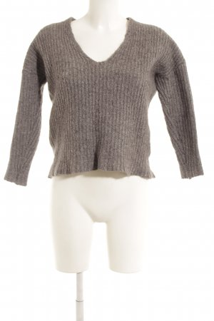 Gina Tricot Wollpullover grau Casual-Look