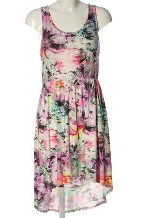 Gina Asymetryczna sukienka Abstrakcyjny wzór W stylu casual
