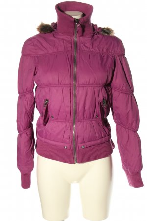 Gina Winterjacke pink Steppmuster Casual-Look