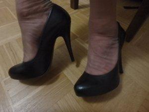 Ginafranco Pini High Heels Pumps schwarz echt Leder 39