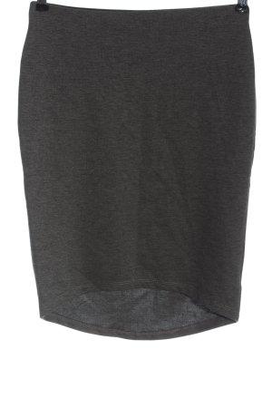 GinaTricot Asymmetry Skirt light grey flecked casual look