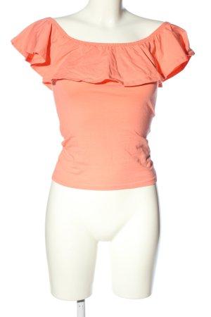 GinaTricot Camisa tipo Carmen rosa look casual