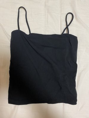 GinaTricot Cropped Top black