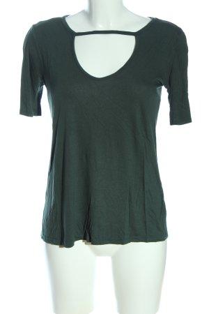 GinaTricot Kurzarm-Bluse grün Casual-Look