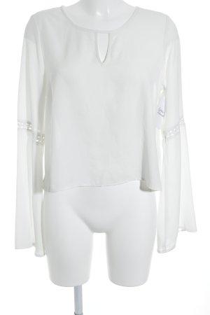 Gina Tricot Langarm-Bluse weiß