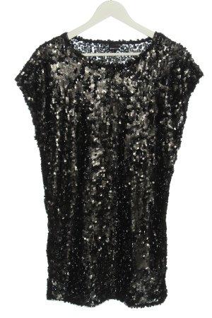 GinaTricot Pailettenkleid schwarz-silberfarben Elegant