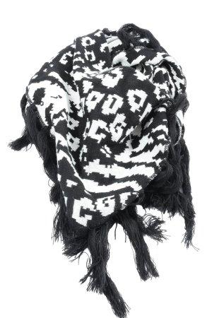 GinaTricot Shemagh noir-blanc imprimé avec thème style décontracté