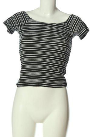 GinaTricot Camisa de rayas negro-blanco estampado a rayas look casual