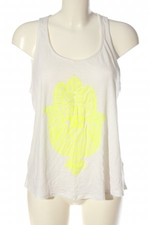 GinaTricot Blusa sin espalda blanco-amarillo pálido estampado temático