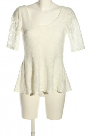 GinaTricot Peplum Top white flower pattern casual look