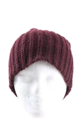 GinaTricot Chapeau en tricot rouge style décontracté