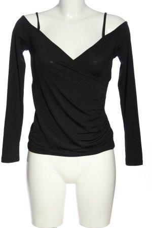 GinaTricot V-Neck Shirt black casual look