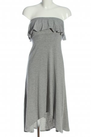 Gina Tricot High Low Dress light grey flecked casual look