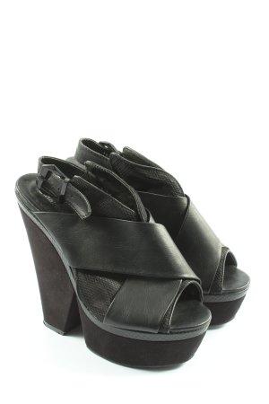 GinaTricot Compensé noir motif animal style extravagant