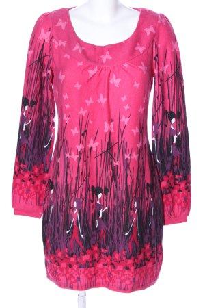 Ginger & soul Langarmkleid pink-lila Allover-Druck Casual-Look