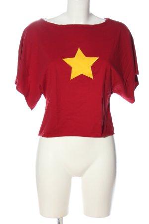 ginkgo Camisa holgada rojo estampado temático look casual
