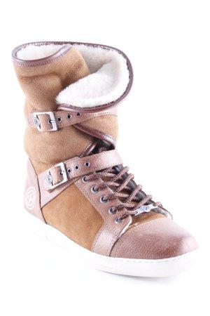 Gino-B Schlüpfsneaker braun-creme Casual-Look