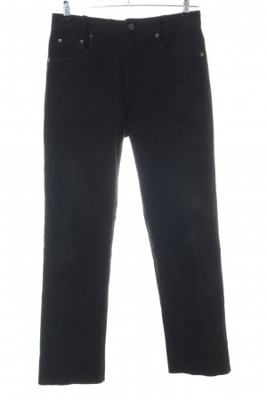 Gino Ginero Leather Trousers black casual look