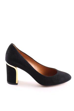 Gino Rossi High Heels schwarz-goldfarben Business-Look