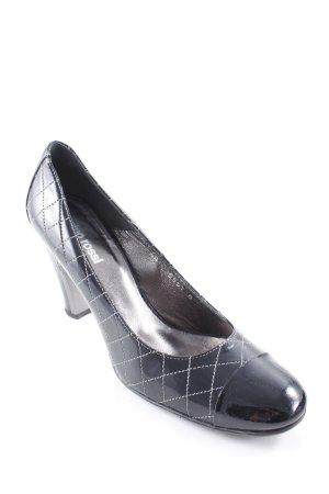 Gino Rossi High Heels schwarz-weiß Logo-Applikation aus Metall