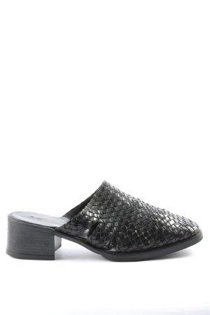 Gino ventori Heel Pantolettes black allover print casual look