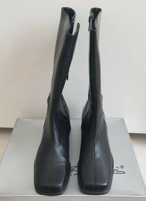GinoVentori Stiefel Echtleder m. Lackleder in Schwarz 40 neu