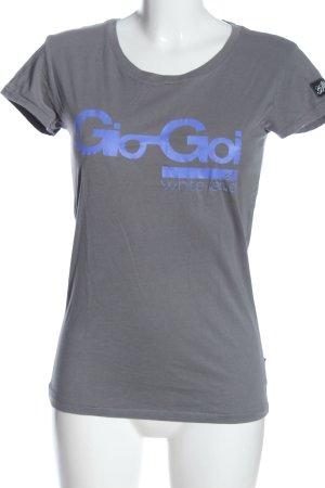Gio-Goi Print-Shirt hellgrau-blau Schriftzug gedruckt Casual-Look