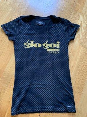 Gio Goi -Shirt Shirt Oberteil Größe S 36 schwarz gold Oberteil Top Shirt