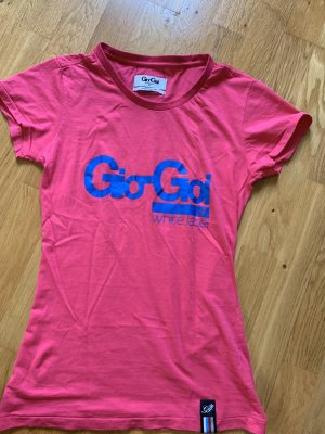 Gio Goi T-Shirt Shirt Oberteil Größe XS S 34 36 pink blau wie neu Oberteil Top