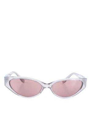 gioferrari ovale Sonnenbrille hellgrau Casual-Look