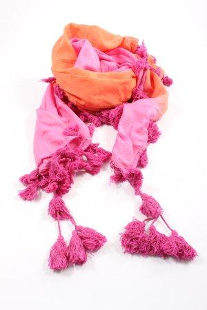 Gioia Sjaal met franjes roze-licht Oranje casual uitstraling