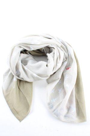 Gioia Écharpe d'été blanc-kaki imprimé avec thème style décontracté