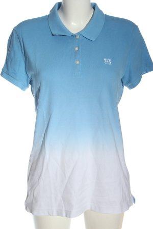 """""""Giordano"""" Polo bleu-blanc gradient de couleur style décontracté"""