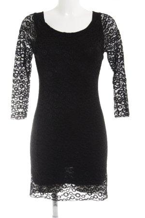 Giorgia & Johns Spitzenkleid schwarz grafisches Muster klassischer Stil