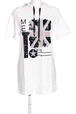 Giorgia Shirt met capuchon wit-zwart prints met een thema casual uitstraling