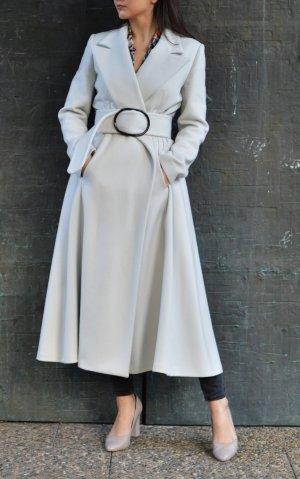 Giorgio  Armani Jas tot aan de grond licht beige-lichtgrijs Wol